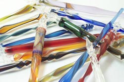 Beautiful Flameworked Glass Dip-Style Pens